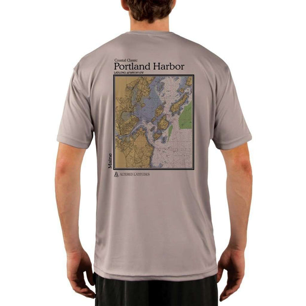 Coastal Classics Portland Harbor Mens Upf 5+ Uv/sun Protection Performance T-Shirt Athletic Grey / X-Small Shirt