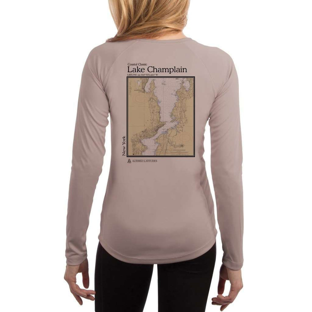 Coastal Classics Lake Champlain Womens Upf 5+ Uv/sun Protection Performance T-Shirt Athletic Grey / X-Small Shirt