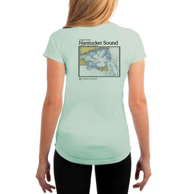 Coastal Classics Nantucket Sound Womens Upf 5+ Uv/sun Protection Performance T-Shirt Seagrass / X-Small Shirt