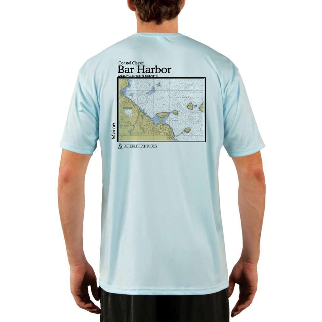 Coastal Classics Bar Harbor Mens Upf 50+ Uv/sun Protection Performance T-Shirt Arctic Blue / X-Small Shirt