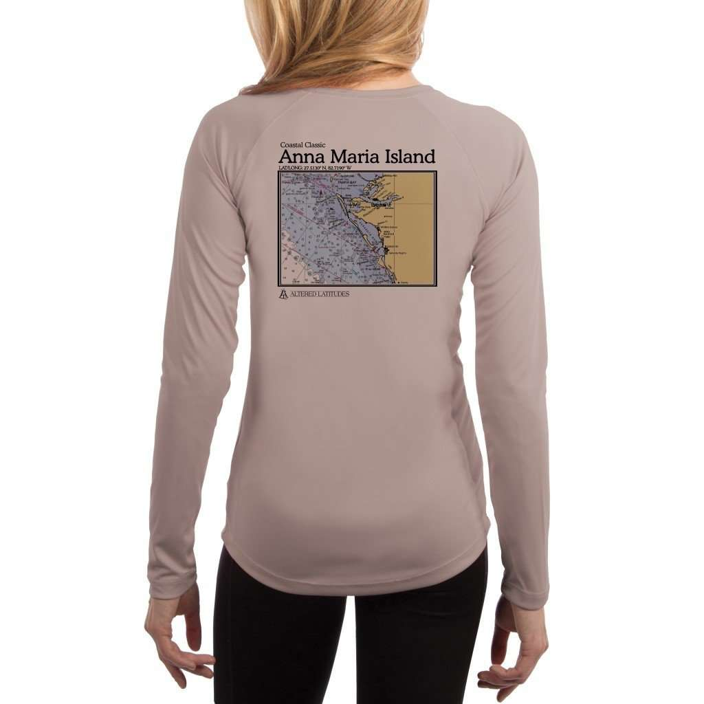 Coastal Classics Anna Maria Island Womens Upf 50+ Uv/sun Protection Performance T-Shirt Athletic Grey / X-Small Shirt