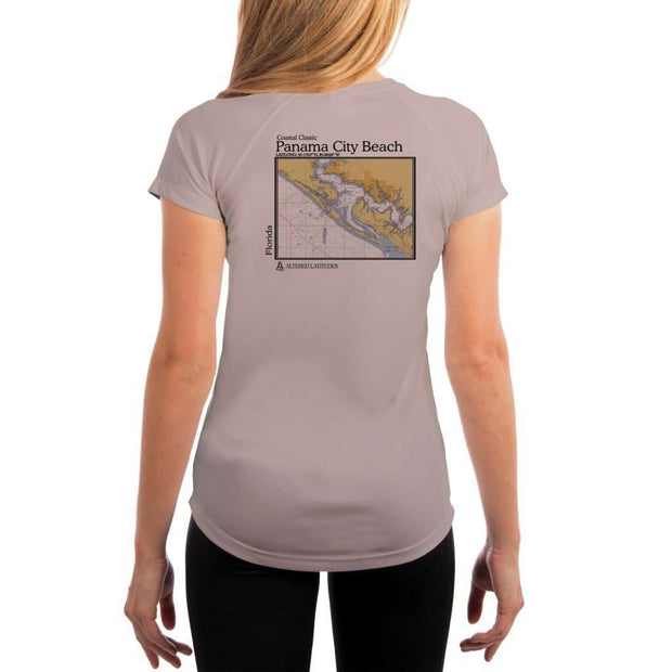 Coastal Classics Panama City Beach Womens Upf 5+ Uv/sun Protection Performance T-Shirt Athletic Grey / X-Small Shirt