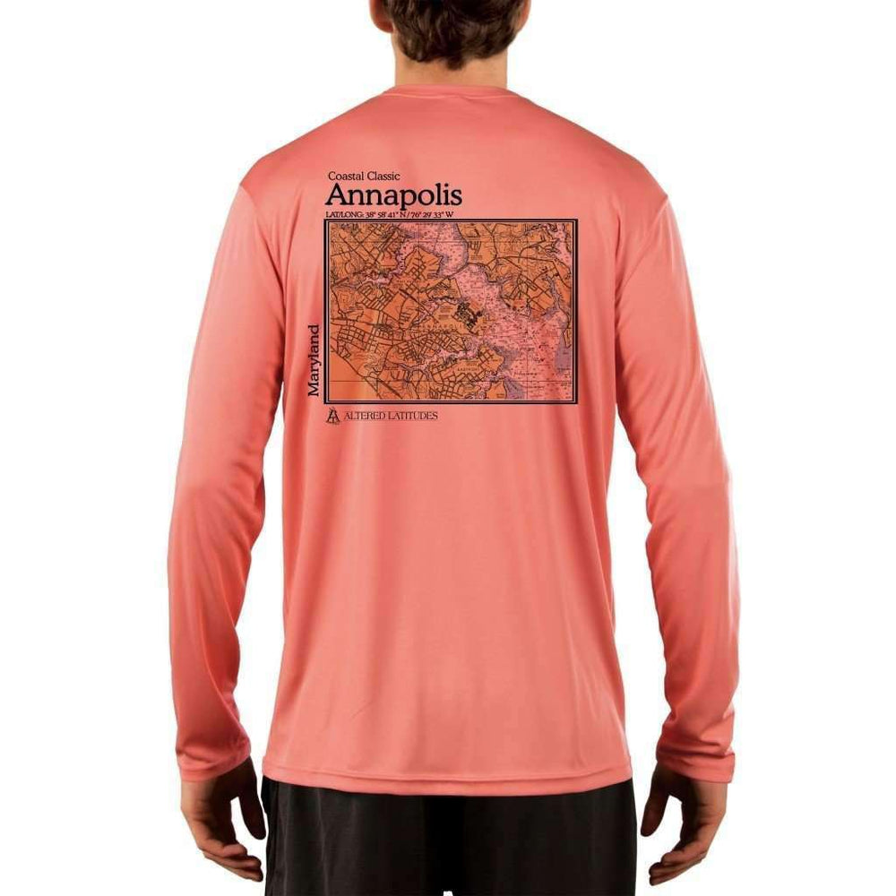 Coastal Classics Annapolis Mens Upf 5+ Uv/sun Protection Performance T-Shirt Salmon / X-Small Shirt