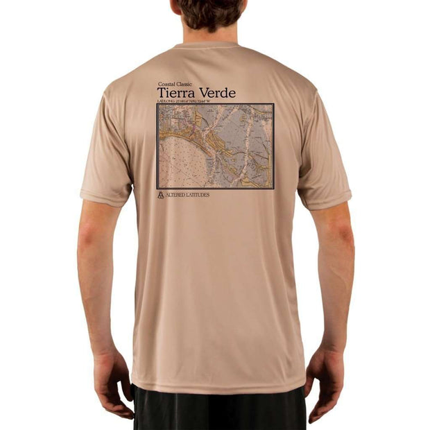 Coastal Classics Tierra Verde Mens Upf 5+ Uv/sun Protection Performance T-Shirt Tan / X-Small Shirt
