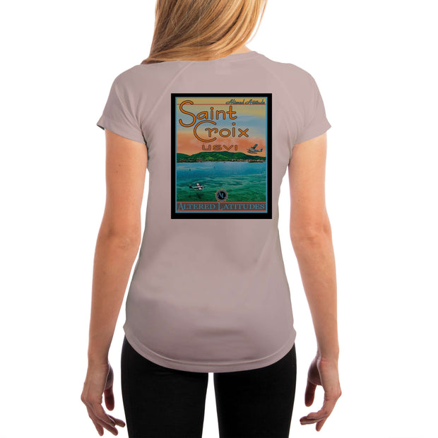 Vintage Destination St. Croix Women's UPF 5+ UV Sun Protection Short Sleeve T-shirt - Altered Latitudes