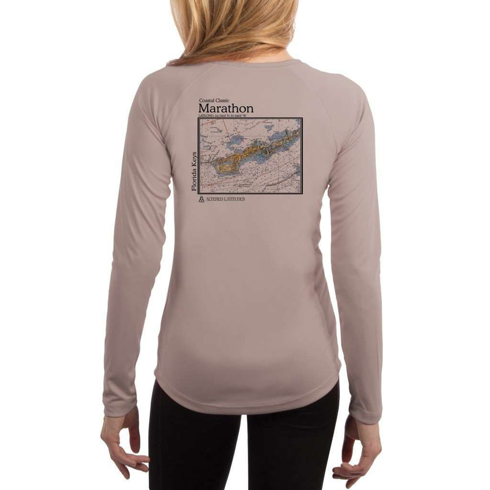 Coastal Classics Marathon Womens Upf 5+ Uv/sun Protection Performance T-Shirt Athletic Grey / X-Small Shirt