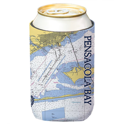 Altered Latitudes Pensacola Bay Chart Standard Beverage Cooler (4-Pack)