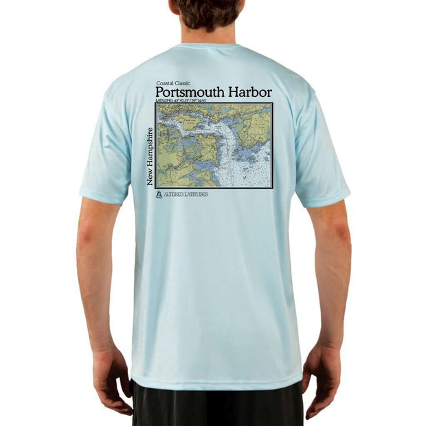 Coastal Classics Portsmouth Harbor Mens Upf 5+ Uv/sun Protection Performance T-Shirt Arctic Blue / X-Small Shirt