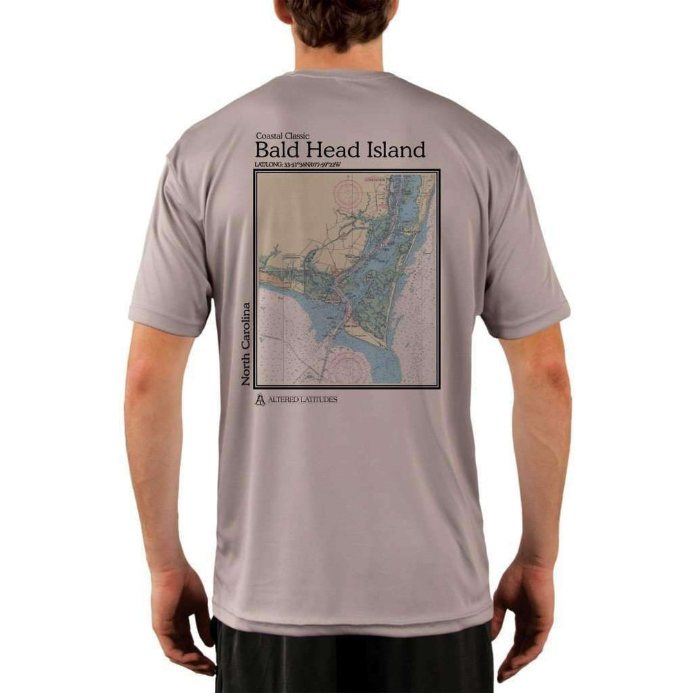 Coastal Classics Bald Head Island Mens Upf 5+ Uv/sun Protection Performance T-Shirt Athletic Grey / X-Small Shirt