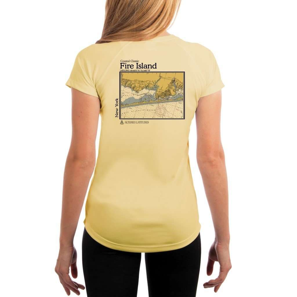 Coastal Classics Fire Island Womens Upf 50+ Uv/sun Protection Performance T-Shirt Pale Yellow / X-Small Shirt