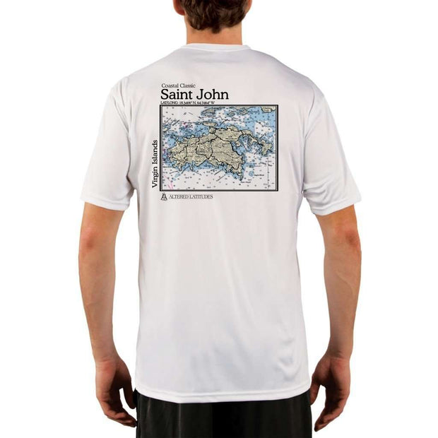 Coastal Classics Saint John Mens Upf 5+ Uv/sun Protection Performance T-Shirt White / X-Small Shirt