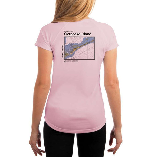 Coastal Classics Ocracoke Island Womens Upf 5+ Uv/sun Protection Performance T-Shirt Pink Blossom / X-Small Shirt