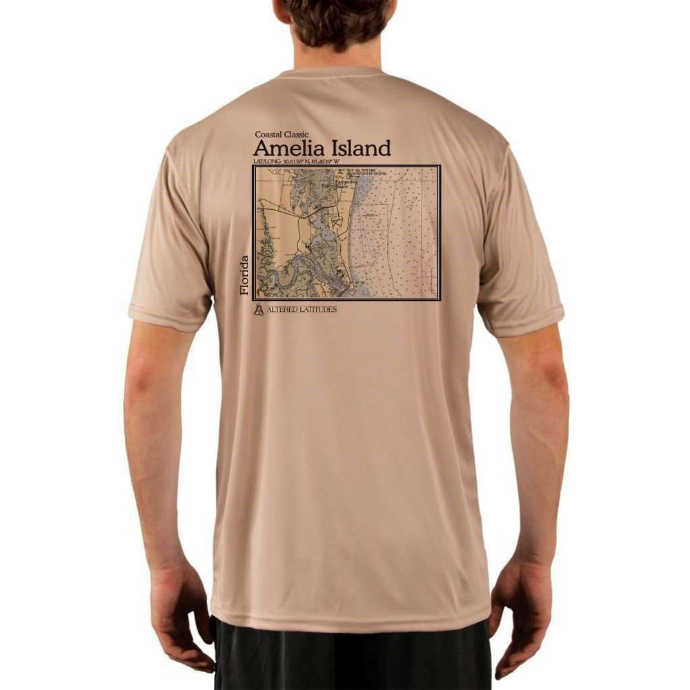 Coastal Classics Amelia Island Mens Upf 5+ Uv/sun Protection Performance T-Shirt Tan / X-Small Shirt