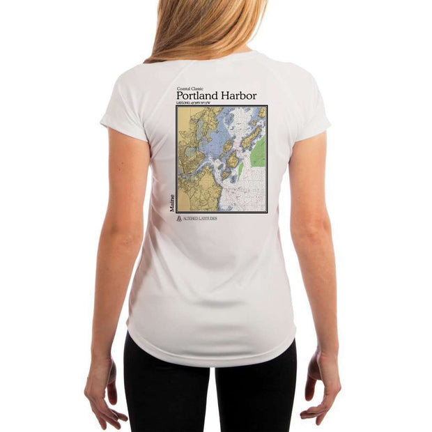 Coastal Classics Portland Harbor Womens Upf 5+ Uv/sun Protection Performance T-Shirt White / X-Small Shirt