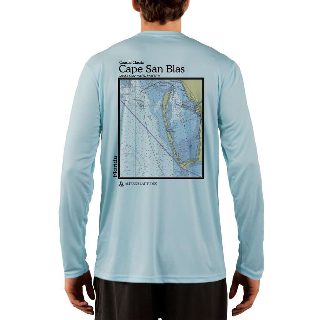 Coastal Classics Cape San Blas Mens Upf 50+ Uv/sun Protection Performance T-Shirt Arctic Blue / X-Small Shirt