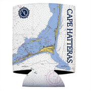 Altered Latitudes Cape Hatteras Chart Standard Beverage Cooler (4-Pack)