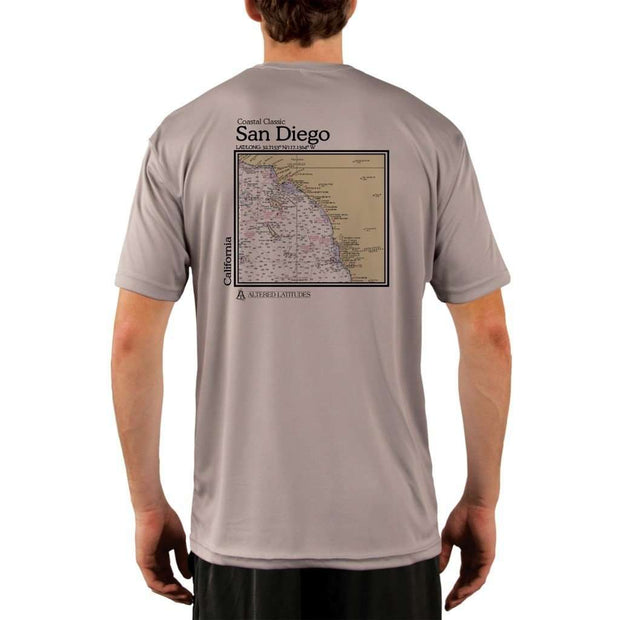 Coastal Classics San Diego Mens Upf 5+ Uv/sun Protection Performance T-Shirt Athletic Grey / X-Small Shirt