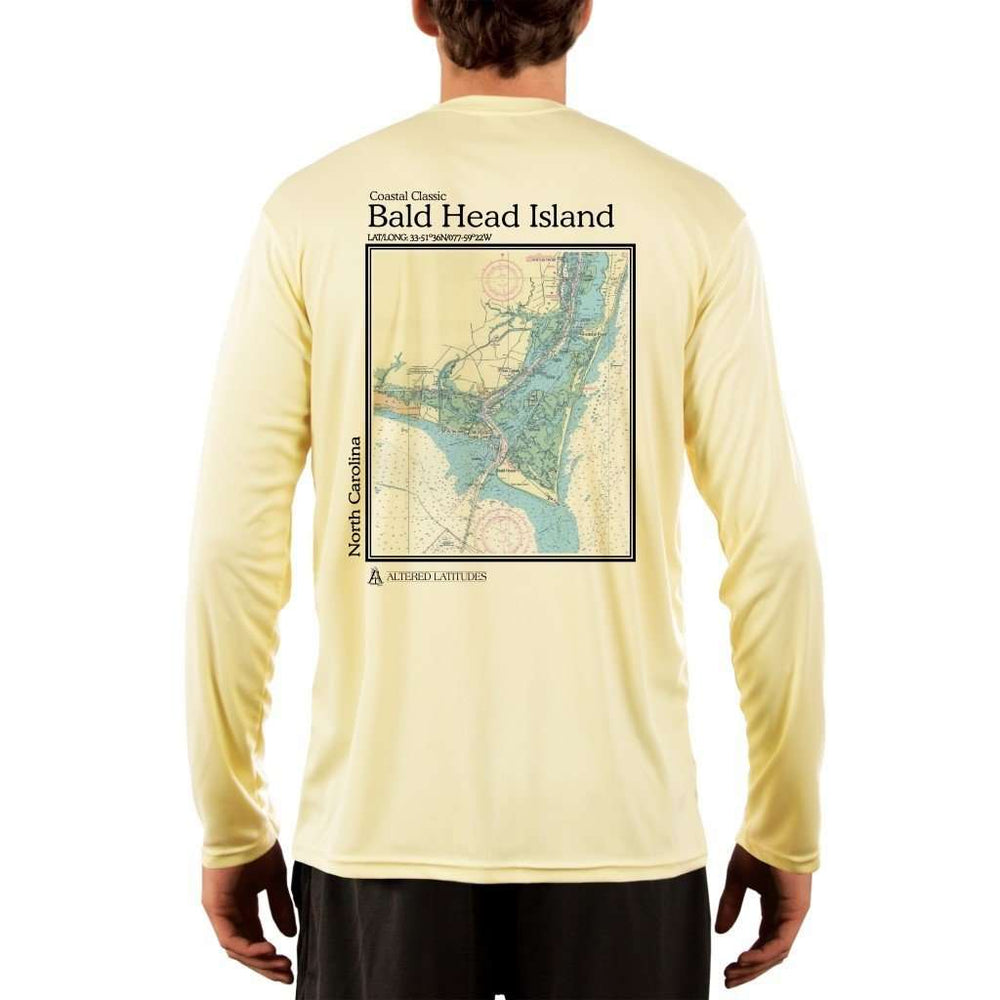 Coastal Classics Bald Head Island Mens Upf 5+ Uv/sun Protection Performance T-Shirt Pale Yellow / X-Small Shirt