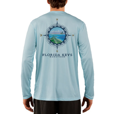 Compass Vintage Florida Keys Men's UPF 50+ Long Sleeve T-Shirt