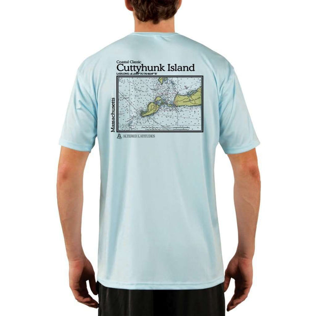 Coastal Classics Cuttyhunk Island Mens Upf 5+ Uv/sun Protection Performance T-Shirt Arctic Blue / X-Small Shirt