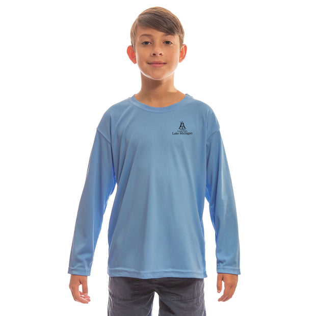 Coastal Classics Lake Michigan Youth UPF 50+ UV/Sun Protection Long Sleeve T-Shirt - Altered Latitudes