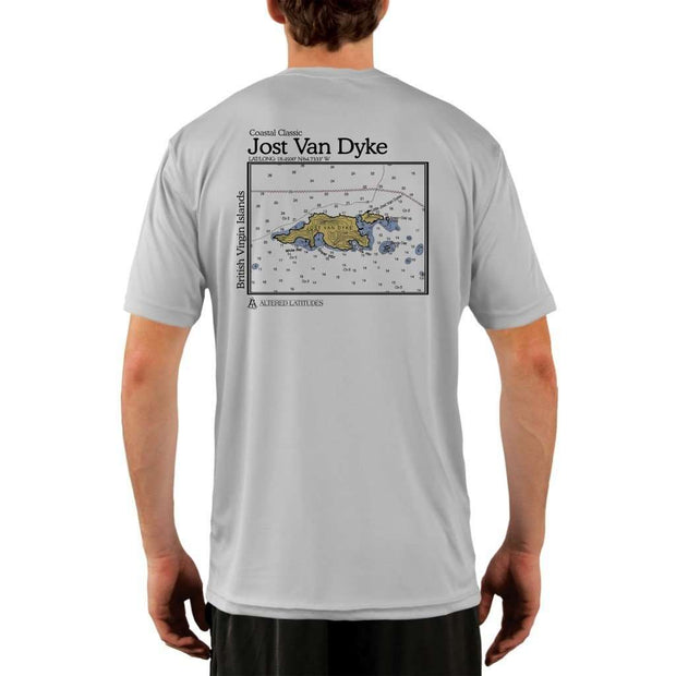 Coastal Classics Jost Van Dyke Mens Upf 5+ Uv/sun Protection Performance T-Shirt Pearl Grey / X-Small Shirt