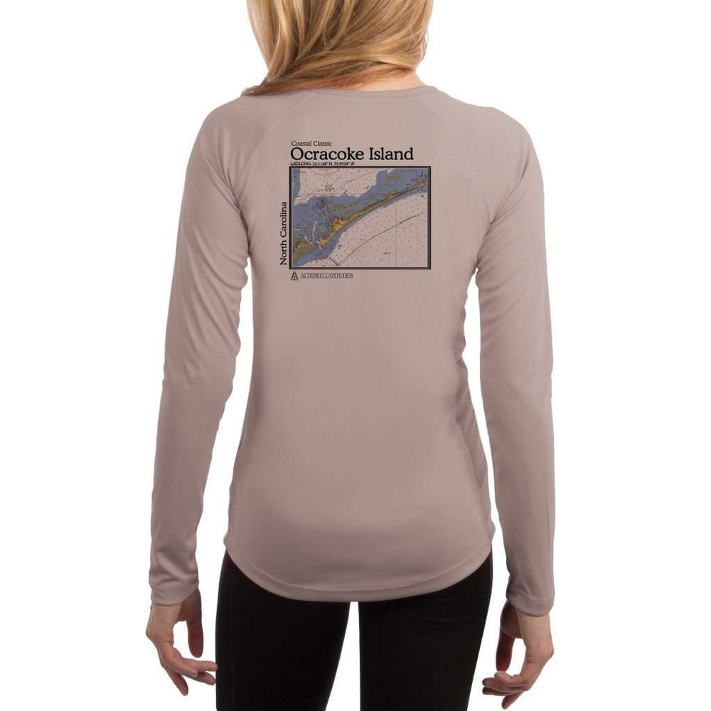 Coastal Classics Ocracoke Island Womens Upf 5+ Uv/sun Protection Performance T-Shirt Athletic Grey / X-Small Shirt