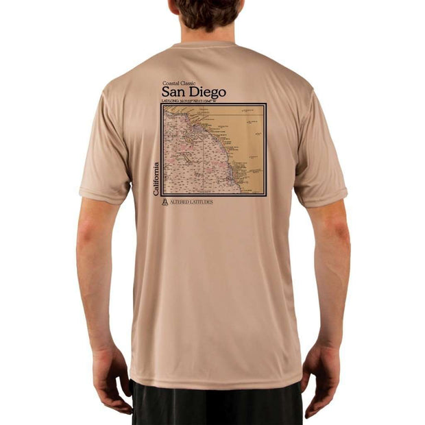 Coastal Classics San Diego Mens Upf 5+ Uv/sun Protection Performance T-Shirt Tan / X-Small Shirt