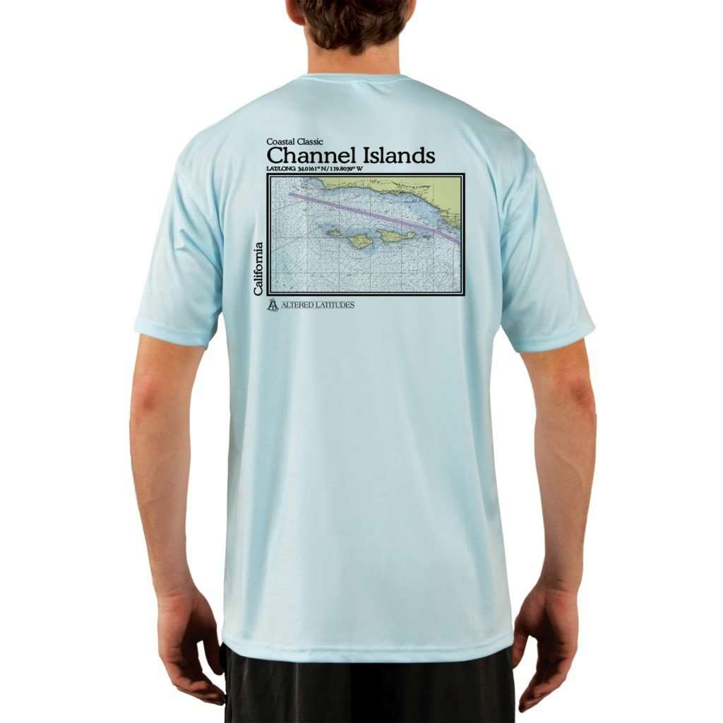 Coastal Classics Channel Islands Mens Upf 50+ Uv/sun Protection Performance T-Shirt Arctic Blue / X-Small Shirt