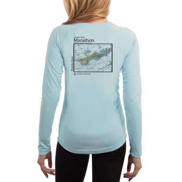 Coastal Classics Marathon Womens Upf 5+ Uv/sun Protection Performance T-Shirt Arctic Blue / X-Small Shirt
