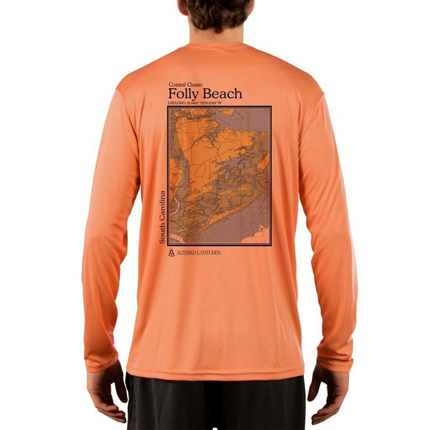 Coastal Classics Folly Beach Men's UPF 50+ UV/Sun Protection Performance T-shirt