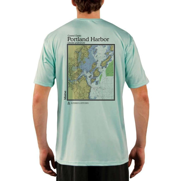 Coastal Classics Portland Harbor Mens Upf 5+ Uv/sun Protection Performance T-Shirt Seagrass / X-Small Shirt