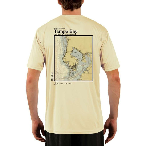 Coastal Classics Tampa Bay Mens Upf 5+ Uv/sun Protection Performance T-Shirt Pale Yellow / X-Small Shirt