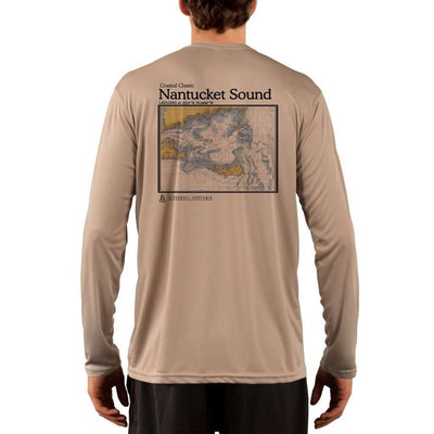Coastal Classics Nantucket Sound Mens Upf 5+ Uv/sun Protection Performance T-Shirt Tan / X-Small Shirt
