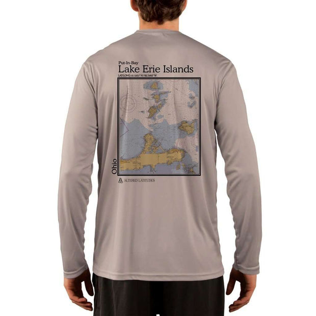 Coastal Classics Lake Erie Islands Mens Upf 5+ Uv/sun Protection Performance T-Shirt Athletic Grey / X-Small Shirt