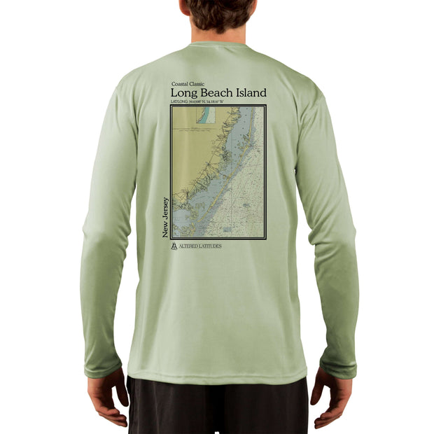 Coastal Classics Long Beach Island Men's UPF 50+ UV/Sun Protection Performance T-shirt