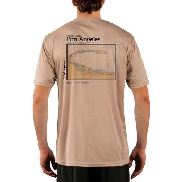 Coastal Classics Port Angeles Mens Upf 5+ Uv/sun Protection Performance T-Shirt Tan / X-Small Shirt