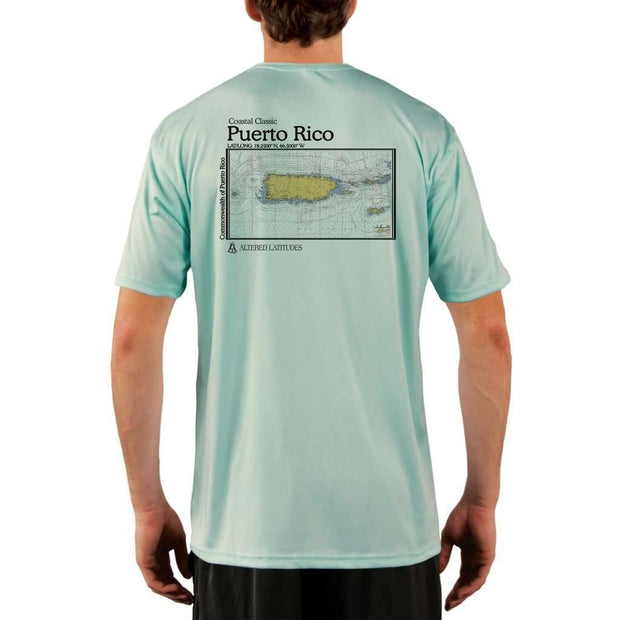 Coastal Classics Puerto Rico Mens Upf 5+ Uv/sun Protection Performance T-Shirt Seagrass / X-Small Shirt