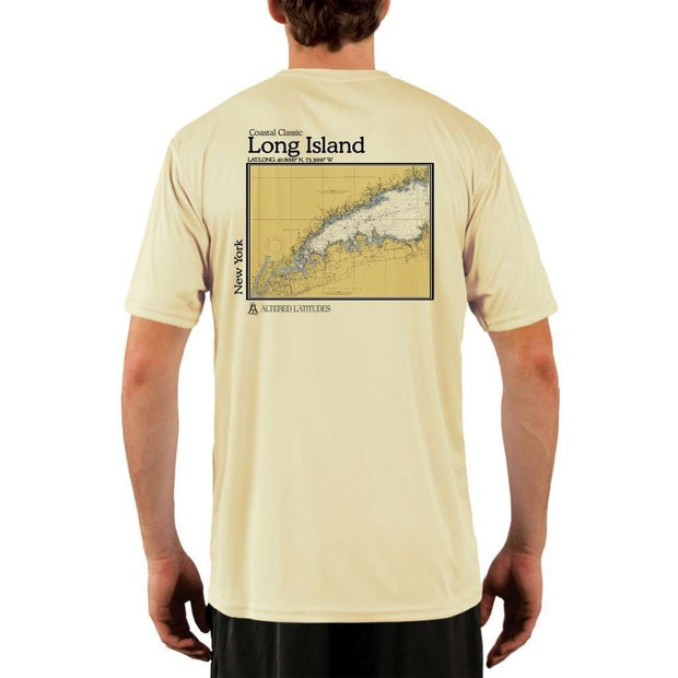 Coastal Classics Long Island Mens Upf 5+ Uv/sun Protection Performance T-Shirt Pale Yellow / X-Small Shirt