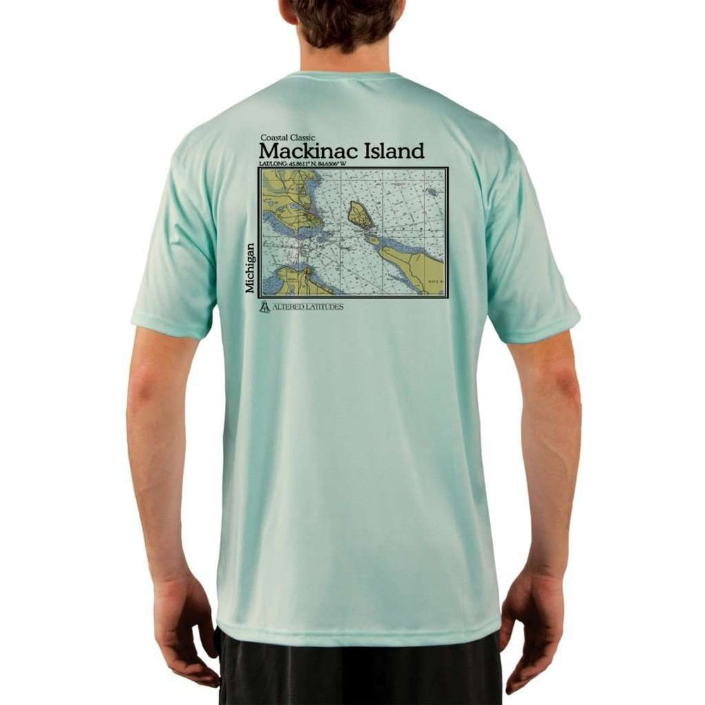 Coastal Classics Mackinac Island Mens Upf 5+ Uv/sun Protection Performance T-Shirt Seagrass / X-Small Shirt