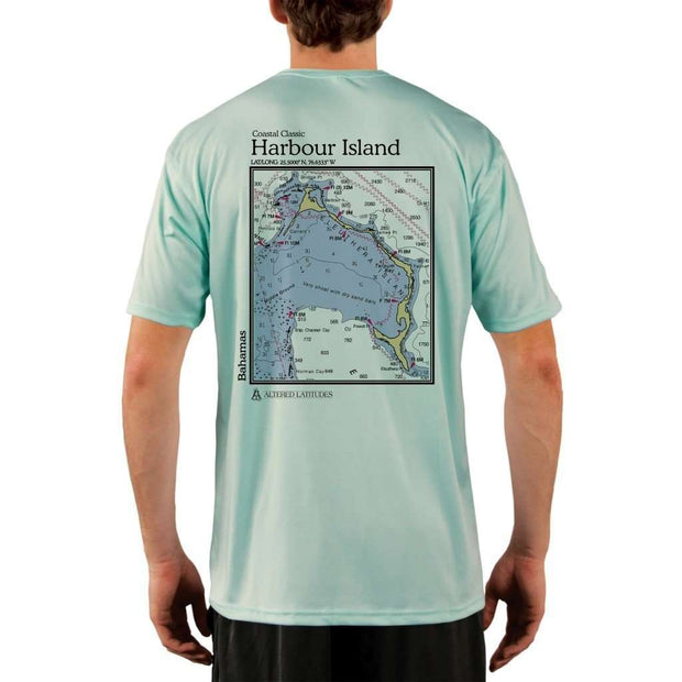 Coastal Classics Harbour Island Mens Upf 5+ Uv/sun Protection Performance T-Shirt Seagrass / X-Small Shirt