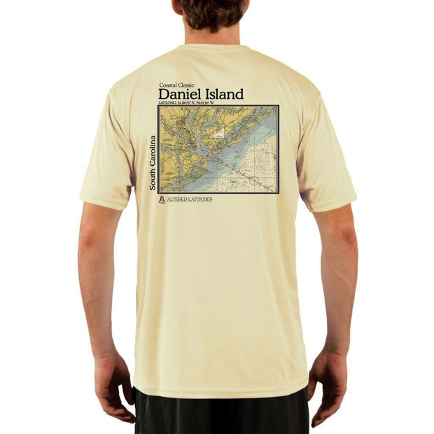 Coastal Classics Daniel Island Mens Upf 5+ Uv/sun Protection Performance T-Shirt Pale Yellow / X-Small Shirt