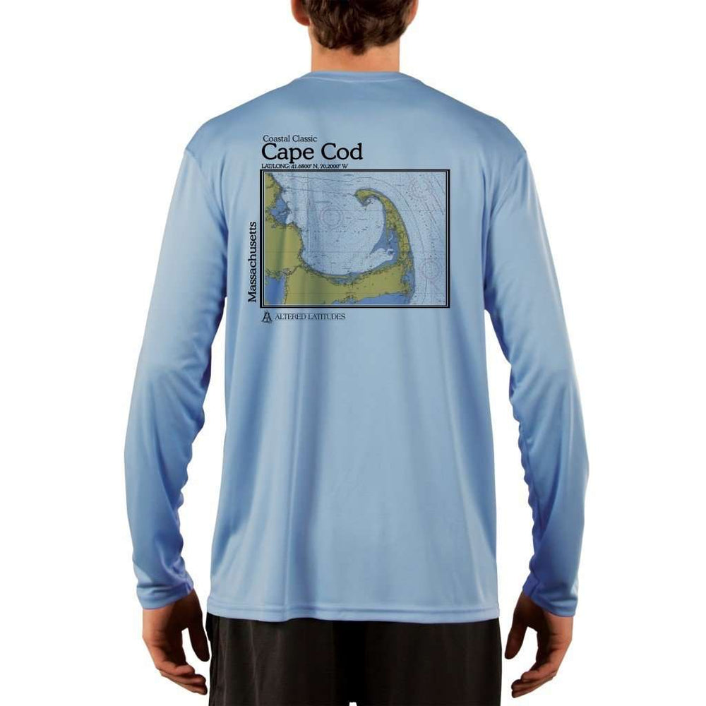 Coastal Classics Cape Cod Mens Upf 5+ Uv/sun Protection Performance T-Shirt Columbia Blue / X-Small Shirt