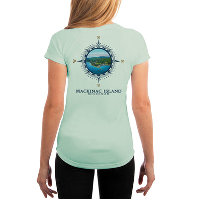 Compass Vintage Mackinac Island Women's UPF 50+ Short Sleeve T-shirt