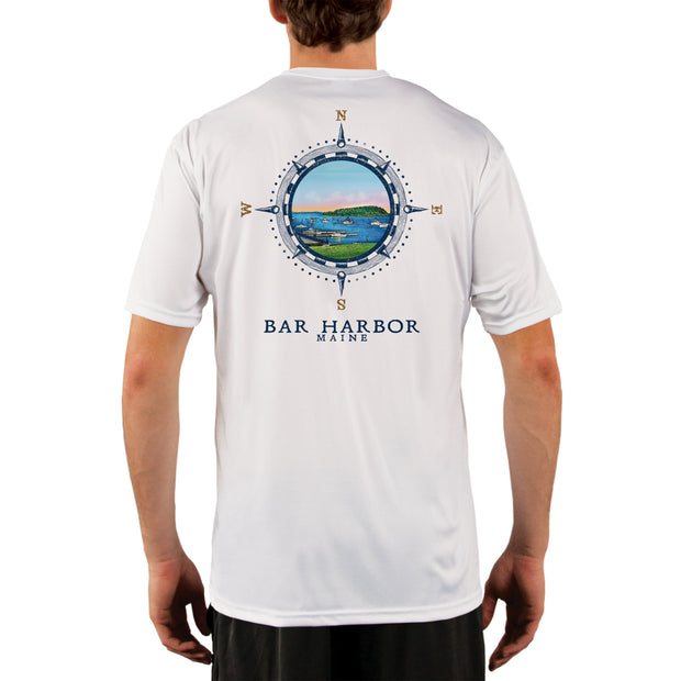 Compass Vintage Bar Harbor Men's UPF 50+ Short Sleeve T-shirt