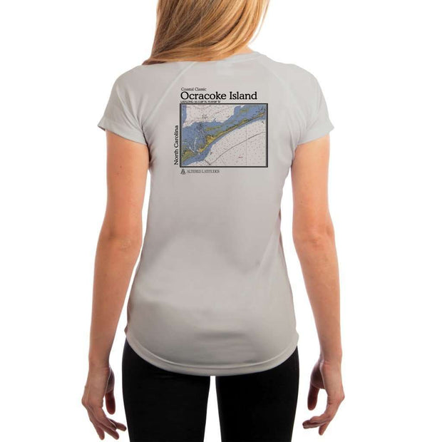 Coastal Classics Ocracoke Island Womens Upf 5+ Uv/sun Protection Performance T-Shirt Pearl Grey / X-Small Shirt
