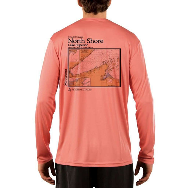 Coastal Classics North Shore Mens Upf 5+ Uv/sun Protection Performance T-Shirt Salmon / X-Small Shirt