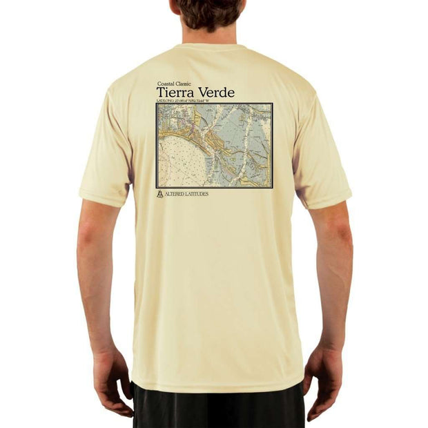 Coastal Classics Tierra Verde Mens Upf 5+ Uv/sun Protection Performance T-Shirt Pale Yellow / X-Small Shirt