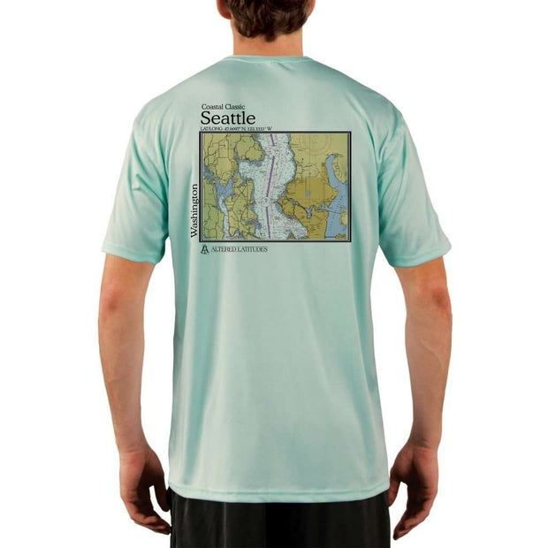 Coastal Classics Seattle Mens Upf 5+ Uv/sun Protection Performance T-Shirt Seagrass / X-Small Shirt