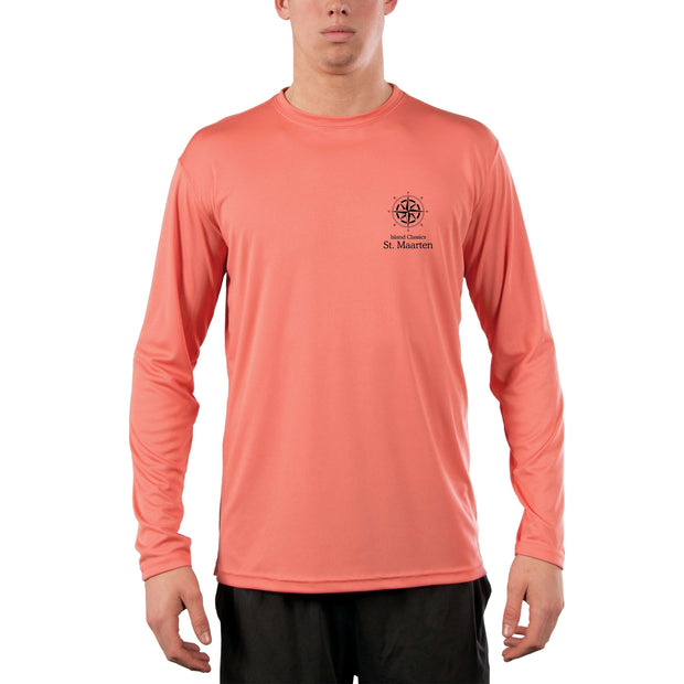 Island Classics St. Maarten Men's UPF 50+ UV Sun Protection Long Sleeve T-Shirt